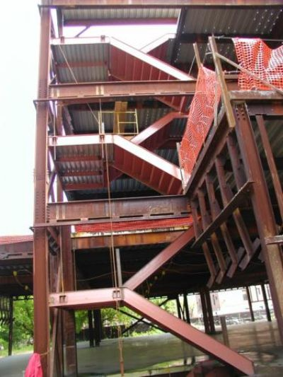 steel masters nyc_double-structural-steel-cement-pan-institutional-metal-staircase-steel-framed-landing_NY_Brooklyn_135 Liberty Avenue_